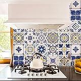 Adesivi per piastrelle bagno e cucina 24 Pz 10x10 cm - PS00236 Made in Italy - Mattonelle autoadesive in PVC impermeabili antigraffio Wall stickers cementine peel and stick