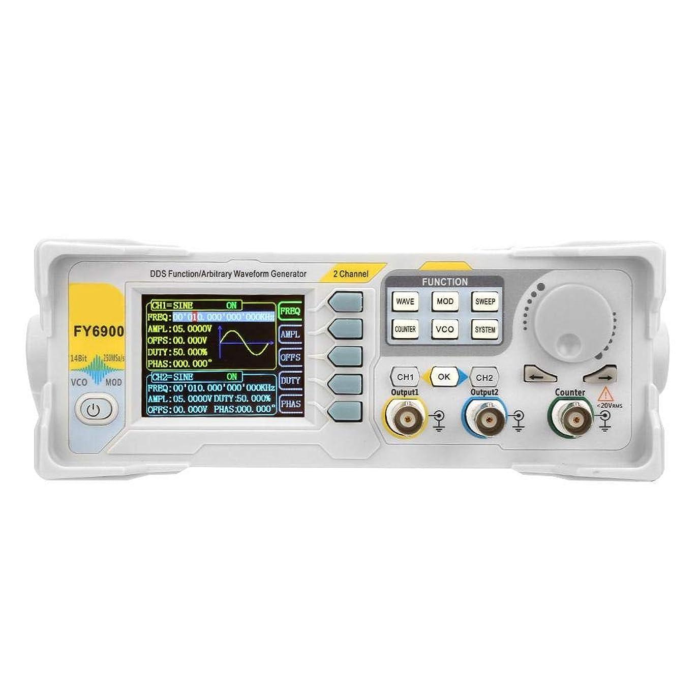 狼独占のためにシグナルジェネレータカウンタ、FY6900-60M 60MHz多機能デジタルシグナルジェネレータカウンタ周波数計(US Plug)