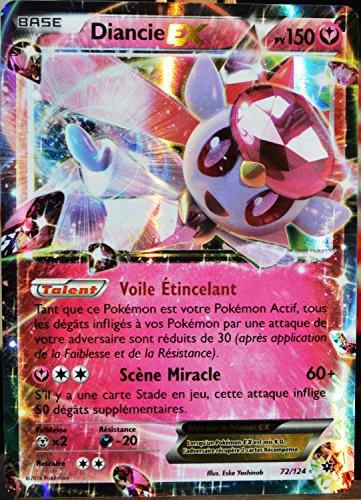 carte Pokémon 72/124 Diancie EX 150 PV - ULTRA RARE XY - Impact des Destins