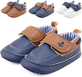 CINDEAR Newborn Baby Boys & Girls First Walking Shoes Infant/Toddler Sneakers Dress Loafers Prewalker Moccasin Crib Shoes