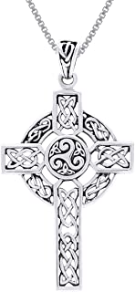 trinity cross necklace