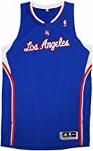 adidas Los Angeles Clippers NBA Blue Official Authentic On-Court Revolution 30 Away Road Jersey for Men