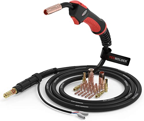 """lowest YESWELDER MIG Welding Gun Torch Stinger 100Amp 10ft(3m) Replacement new arrival for online sale Lincoln Magnum 100L K530-5&MIG Welding Gun Kit .030"""" Tip-Nozzle-Diffuser outlet sale"""