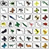 43 Pack Fake Bugs Mini Realistic Insects Toys for Kids Toddler Children's Birthday Gift Halloween Easter Treats Bugs Insects Goody Bag Filler #1