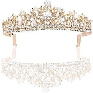 JUZHEN Prinzessin Crown Wasser Drill Dekoration Geburtstag Krone Kleid Kopfschmuck Party, Geburtstag, Jubiläum, Hochzeit H...