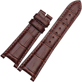 25mm Black/Brown Crocodile Grain Leather Watch Band Strap Fits for Patek Philippe [5711/5712]