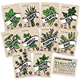 Culinary Herb Seeds 10 Pack – Over 4000 Seeds! 100% Non GMO Heirloom...
