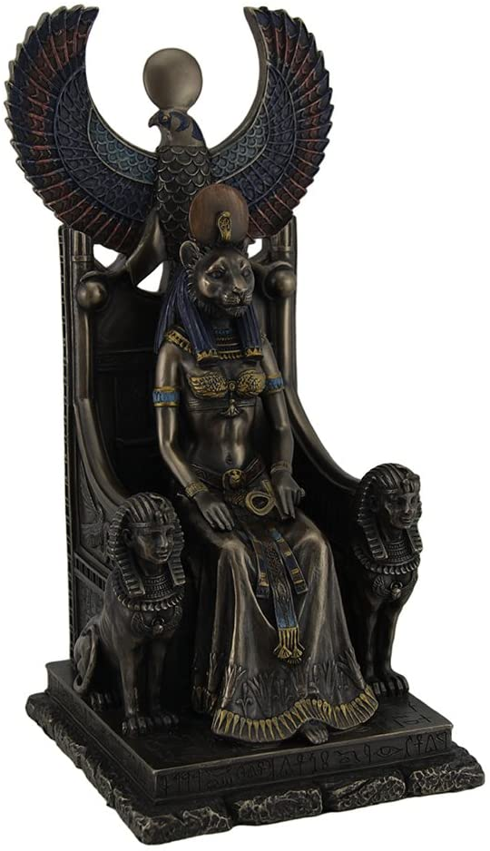 Resin Special price Statues Fort Worth Mall Ancient Egyptian Goddess Sittin Of Healing Sekhmet