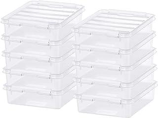 x 6 De rangement en plastique conteneurs avec couvercles 0.90 LT//30 oz environ 850.47 g