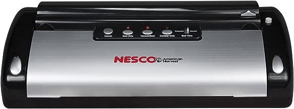 NESCO VS-02, Food Vacuum Sealing System with Bag Starter Kit, Black