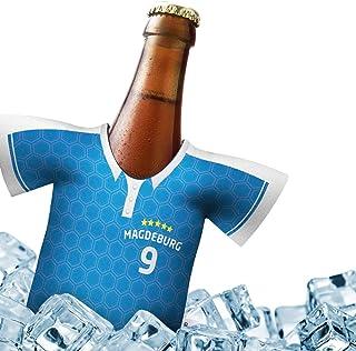 Alles für Magdeburg-Fans by Ligakakao.de Mein Magdeburg Trikotkühler | Eiskalter Biergenuss. Jedes Spiel. Jedes Tor. Jeden Moment | Fan-Edition für Zuhause | Home-Trikot Herren Bier Flaschenkühler & Fanartikel by Ligakakao.de