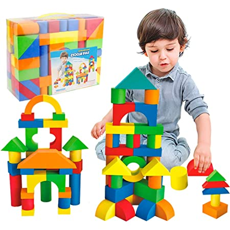 7684 FUN n SAFE Foam Peg Blocks for Kids 150 Brightly Colored Pieces