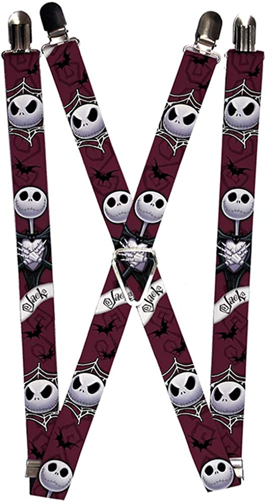 Buckle-Down Suspenders-Nightmare Before Christmas Jack Face/Corpse 2