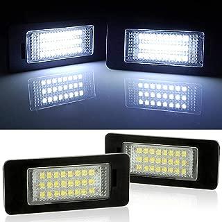 2pc 24 LED Error Free License Plate Light For BMW E90 E92 E93 M3 E70 E60 E39 F30 (Reference Part NO: 63267165646/63267193293)
