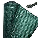 WOLTU GZZ1181m4 Zaunblende Tennisblende Schattiernetz Sichtschutz Windschutz Staubschutz Sonnenschutz Gewebe Netz mit Kabelbinder, grün, 1,2x20m