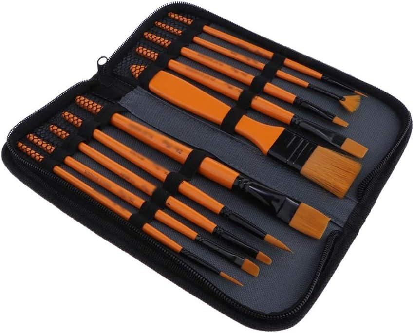 In stock HBIN Paintbrushes Set 10Pcs Nylon Acrylic Oil Brushes Hair Fees free!! for