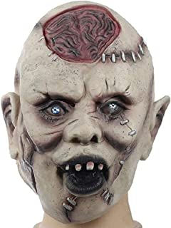 LUHUAISH AU Halloween Horror Latex Mask Face Mask Whole Latex Headwear