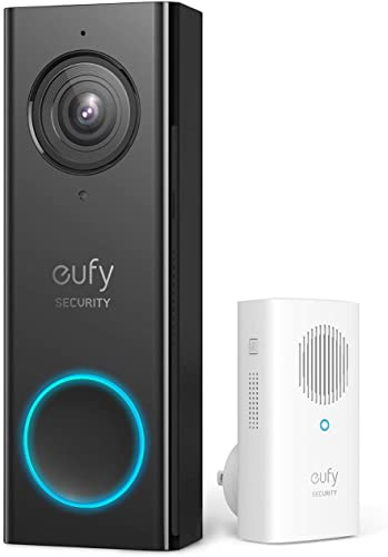 2021 eufy sale Security Wi-Fi Video Doorbell, 2K Resolution, wholesale Real-Time Response, No Monthly Fees, Secure Local Storage, Free Wireless Chime (Require Existing Doorbell Wire, 16-24 VAC, 30 VA or above) (Renewed) sale