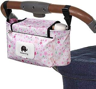 Sharplace Kinderwagen Organizer Buggy Organizer Kinderwagentasche Getr/änkehalter Wickeltasche Kinderwagen-Zubeh/ör Rosa