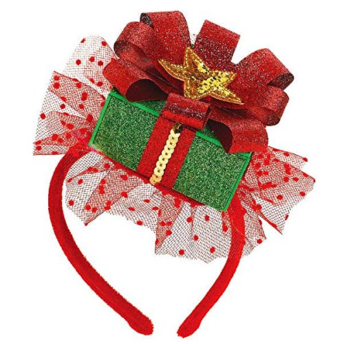 Amscan Fun-Filled Christmas and Holiday Party Gift Fascinator (1 Piece), 8 x 5 , Multicolor