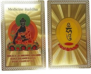 DMtse Feng Shui Medicine Buddha Health Talisman Card for Good Luck Wealth Protection