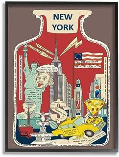 Stupell Industries Vintage Jar New York City Interesting Fun Facts Wall Art, 16 x 20, Brown