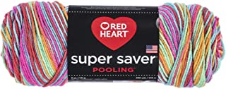 RED HEART E300P.8536 Super Saver Yarn, Pooling - Papaya