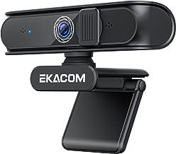 EKACOM Webcam mit Mikrofon, 1080P USB Webkamera für PC, Streaming-Kamera mit Objektivabdeckung und Autofokus, HD-Webcam fü...