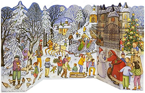 Richard Sellmer Playing in The Snow -Fold Out German Advent Calendar