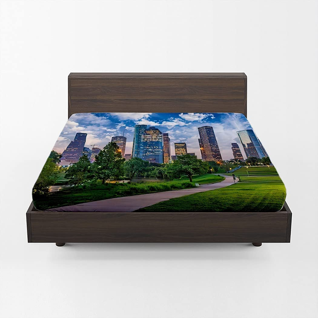 Huipaya USA Downtown Fitted Popular brand in the world Ci Max 48% OFF Sheet Texas Houston