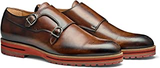 MORAL CODE The Gunnar: Men's Leather Double Monk Strap Semi-Brogued Dress Shoe