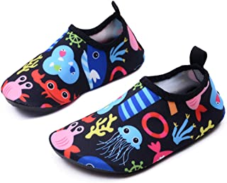 Lewhosy Kids Boys and Girls Swim Water Shoes Quick Drying Barefoot Aqua Socks Shoes for Beach Pool Surfing Yoga