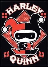 "Ata-Boy DC Comics Chibi Harley Quinn 2.5"" x 3.5"" Magnet for Refrigerators and Lockers"