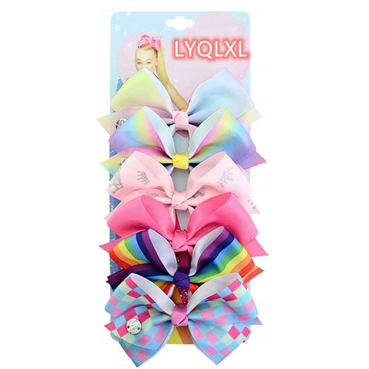 LYQLXL Hair Bows for Girls, 5