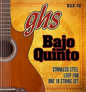 GHS Strings GHS STAINLESS STEEL BAJO QUINTO Strings - Loop End  BSX-10