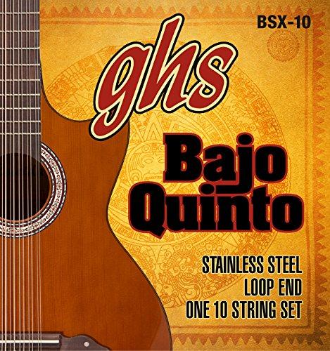 GHS Strings GHS STAINLESS STEEL BAJO QUINTO Strings - Loop End (BSX-10)