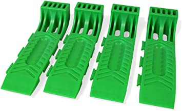 New Improved! BA Products 48-701135 Green Interlocking Wreckmaster Tire Skates (Set of 4) for Rollbacks, Flatbeds, Carriers, Wreckers, Tow Trucks