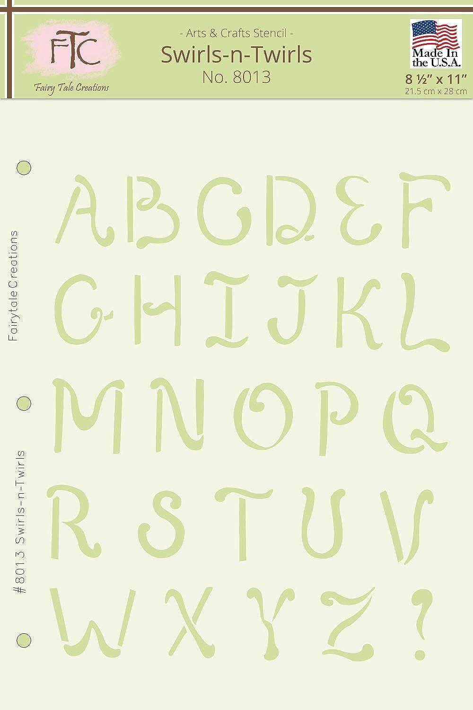 Fairytale Creations swirls-n-twirls Alphabet Schablone, 21,6 cm L x 27,9 cm H B016NK5FZU     | Um Eine Hohe Bewunderung Gewinnen Und Ist Weit Verbreitet Trusted In-und