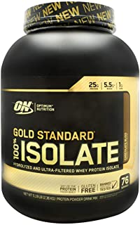 Optimum Nutrition Gold Standard 100% Isolate 3 LB TUB 2019 44 Servings New HYDROLYZED and Ultra Filtered Premium Isolate P...