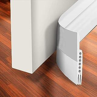 H HOME-MART Door Draft Stopper Under Door Seal for Exterior/Interior Doors, Strong Adhesive Door Sweep Soundproof Weather ...
