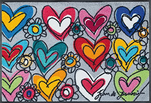 Wash+Dry - Alfombra with Love, All Things Are Possible 50x75, Colorido