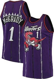 PANGOIE Men's Women Jerseys T-Shirts - 1# Mcgrady Basketball Sweatshirts Breathable Embroidery Vests