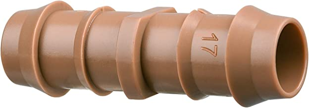 """Arfun 20-Pack Drip Irrigation Barbed Coupling Fittings, Fits of 1/2"""", 17mm .600"""" ID Drip Tubing"""