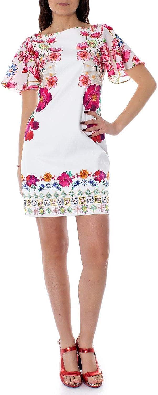 Desigual Women's 19SWVWAUWHITE White Cotton Dress