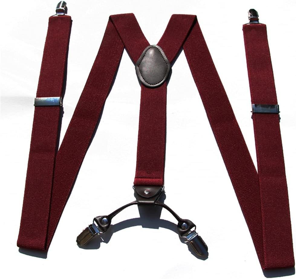 SKREOJF Braces for Men & Women Fully Adjustable Y Shape Adults Slim Suspenders Braces for Trousers (Color : A)