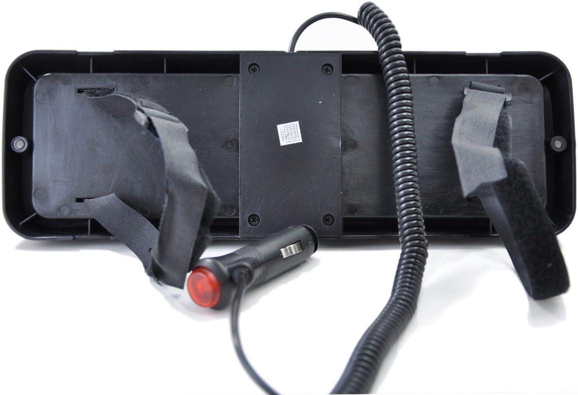 Bleu LifeUp 12V 86 LED Lumi/ères stroboscopiques davertissement de danger durgence pour pare-brise de tableau de bord int/érieur avec ventouses