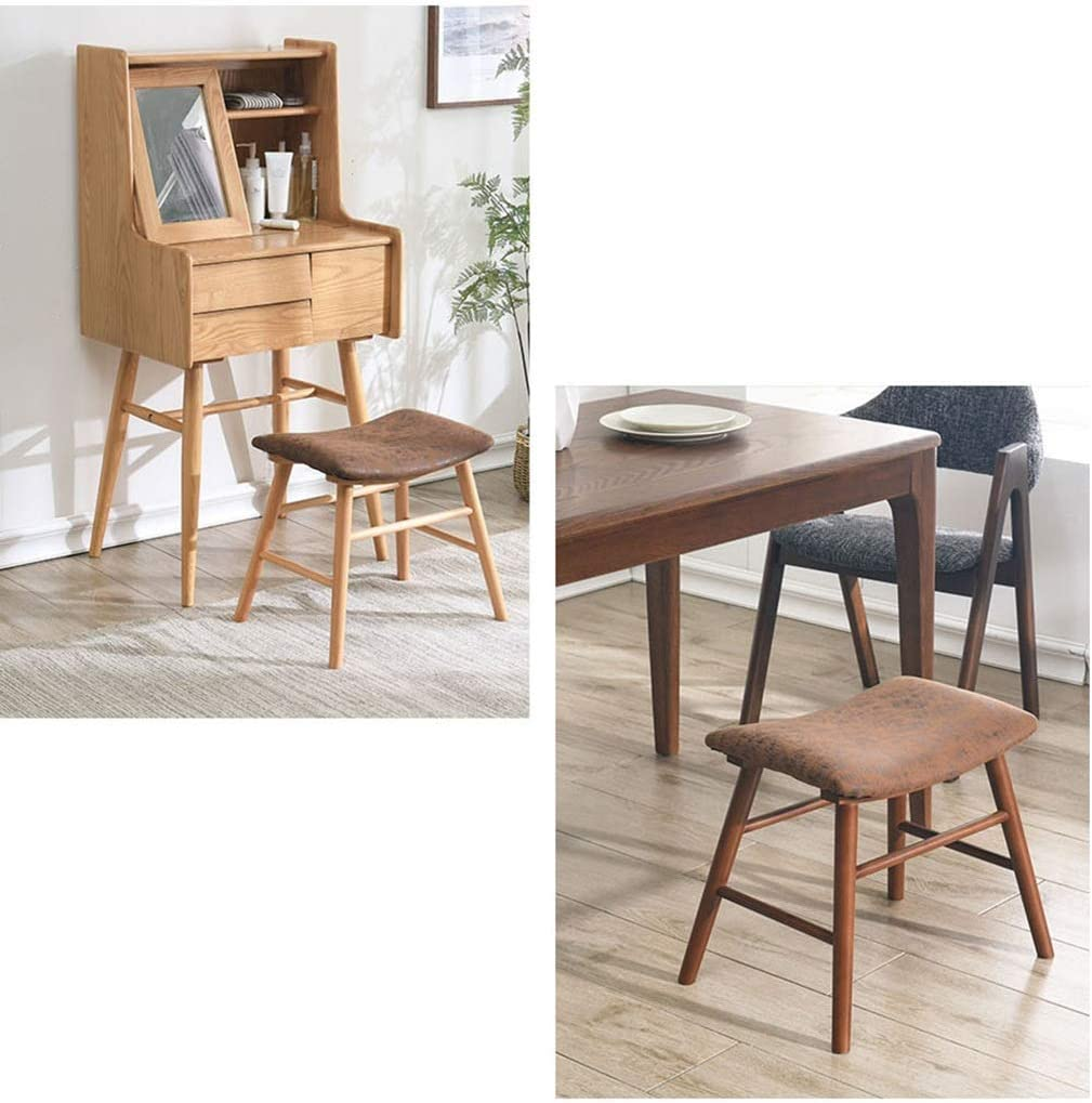 Chaise de salle à manger de salon, banc en bois de chaussure de changement de petit tabouret de loisirs d'enfant de hall de tabouret, 44 * 31 * 43CM (Couleur : A) B
