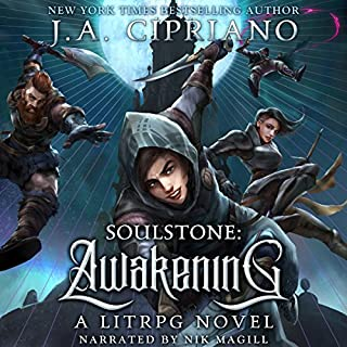 Soulstone: Awakening: A LitRPG Novel audiobook cover art