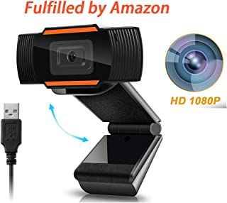HD 1080P Webcam with Microphone, Fast autofocus Webcam USB Computer Camera Live Streaming Web Streaming Camera for Video Calling Recording Video Conference Business Online Teaching Gaming