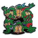 Verani Teenage Mutant Ninja Turtles Movie Cartoon Superhero Band Logo Patch Emblem Jacket T-Shirt Sew Iron on Patch Badge Embroidery